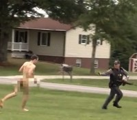 Video: Manhunt ends with capture of naked man in family's slaying