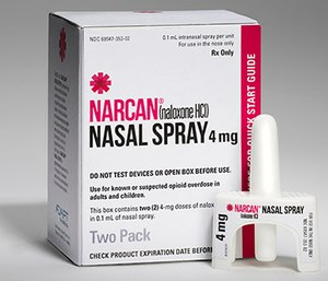 The U.S. Food and Drug Administration approved Narcan nasal spray. (Photo courtesy of Adapt Pharma)