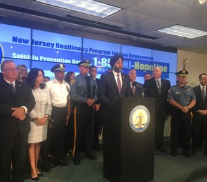 Attorney General Gurbir Grewal announces the New Jersey Resiliency Program for Law Enforcement, a first-in-the-nation statewide program that will train officers in resiliency and help destigmatize mental health issues. (Photo/Joe Atmonavage | NJ Advance Media for NJ.com)