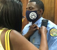 New Orleans officer who lost father to COVID-19 now wears his badge