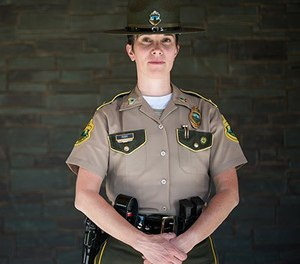 Lt. Julie Scribner of the Vermont State Police didn't have a specific promotion in mind when she started the online criminal justice program at Norwich University, but she wanted to be prepared in case the opportunity presented itself. (image/Norwich)
