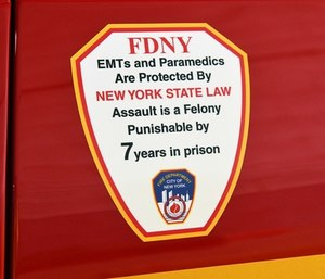 New FDNY ambulance decals will warn the public of the serious prison time those who assault EMS providers could face.