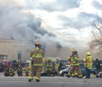 7 NY firefighters injured after cosmetics factory blast, fire