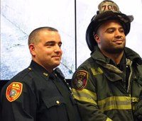 Firefighter, cop rescue driver from fiery crash