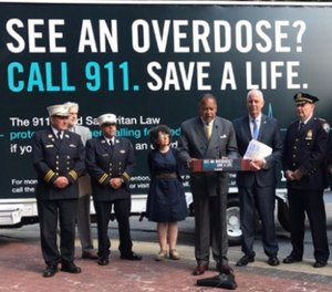 The NYPD and other city officials on Wednesday kicked off a public service campaign designed to encourage people who are overdosing to call 911 without fear of being arrested. (Photo/NYPD)