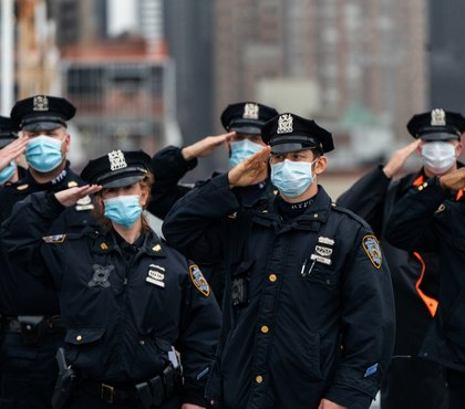 NYPD top cop urges vaccines as police union sues city over mandate