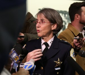 In this 2016 file photo, Chief Anne Kirkpatrick, as head of the Chicago Police Department's Bureau of Professional Standards, attends a new recruits event.