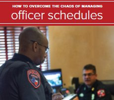 A scheduling software can help officers overcome scheduling challenges.