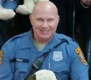 Officer Sean Peek died at home hours after attempting to rescue a suspect from a river on September 6, 2020. (Photo/Bridgeton Police Department)