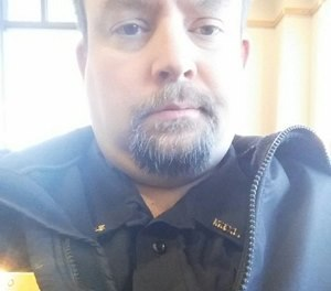 Officer Joseph Gomm was killed in Stillwater's industry building, which houses a welding shop and carpentry programs. (Photo/ODMP)