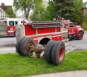 The pumper, Chief Farrell said, is the third truck used in city calls and the truck most often used in mutual aid standby calls.