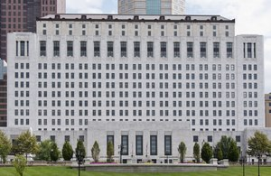The Thomas J. Moyer Ohio Judicial Center in Columbus is home of the Ohio Supreme Court. The City of Centerville recently argued before the court that cities can indeed be victims of crimes and thus are entitled to restitution under the law. Image: Sixflashphoto/Wikipedia Commons