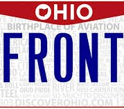 Ohio police departments are concerned about the state's proposed elimination of front license plates, saying that it will make it difficult to identify and apprehend suspects. (Photo/Ohio Bureau of Motor Vehicles)