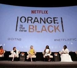 Show Creator Jenji Kohan, Kate Mulgrew, Taylor Schilling, Uzo Aduba, Danielle Brooks and Laverne Cox seen at Netflix