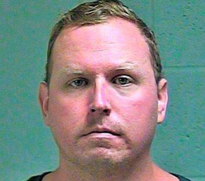 This undated file photo provided by the Oklahoma County Sheriff's Office shows Oklahoma City police Sgt. Keith Sweeney, who's charged with second-degree murder for killing Dustin Pigeon in November 2017. (Photo/Oklahoma County Sheriff's Office via AP, File)