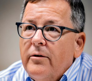 In this Thursday, Sept. 5, 2019, photo, Steven Bickley, executive director of the Oklahoma Pardon and Parole Board, speaks about his new role and goals for the agency at the office in Oklahoma City, Okla. (Chris Landsberger/The Oklahoman via AP)