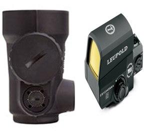 The Trijicon Miniature Rifle Optic (left) and Leupold Carbine Optic.