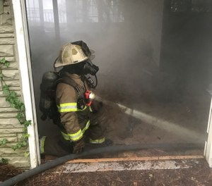 All firefighters must train on primary search techniques to ensure that this essential skill comes as second nature. (Photo/Keith Padgett)