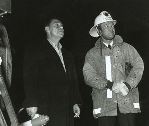 The late Jim Page, right, with Emergency! television producer Jack Webb in the early 1970's. Page, often referred to as the father of modern EMS, had many roles, including fire chief, state EMS director, attorney, publisher — and writer/advisor for the popular TV show. (Photo courtesy of the James O. Page Charitable Foundation).
