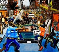 Judge rejects effort to reinstall painting depicting cop as pig in Capitol