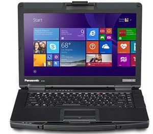 Ideal for users on the go, the Toughbook 54 offers 11 hours of continuous battery life and 18 with the optional second battery. (Photo courtesy Panasonic)