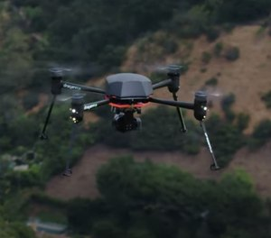 The NYPD may begin using a heat-sensing drone as part of a COVID-19 prevention initiative. (Photo/TNS)