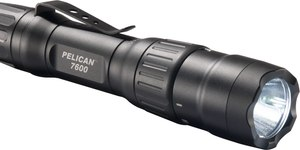 The 7600 body design affords a non-slip grip that makes it easy to keep this flashlight in hand during a foot pursuit or if an officer is suddenly engaged in close-quarters combat. (Photo/Pelican)