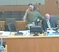 Video shows defendant on trial for attacking CO sucker-punch his lawyer