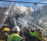 100+ firefighters respond to Philadelphia row house explosion