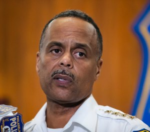 In this July 18, 2019 file photo Philadelphia Police Commissioner Richard Ross speaks during a news conference in Philadelphia. (AP Photo/Matt Rourke, File)