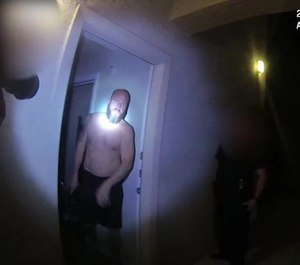 A still from a body-worn camera video of the fatal officer-involved shooting by Phoenix police on May 21, 2020.