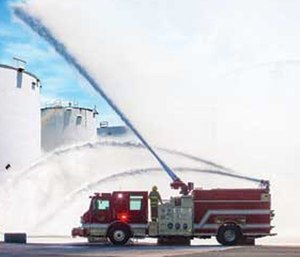 The apparatus will be on display at booth 2801 at Fire-Rescue International. (Photo/Pierce Manufacturing Inc.)