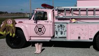 Pink fire truck used for cancer awareness events is now for sale
