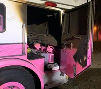 Pink fire truck honoring cancer victim allegedly set on fire