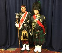 Veteran drum major passes on knowledge, mace at FDIC 2017