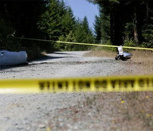 A preliminary report from the National Transportation and Safety Board says the small medical plane broke up in flight last month and then crashed into a densely forested Northern California mountain range, killing all four people aboard.