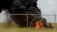 Plane catches fire at Ala. airport; 3 killed
