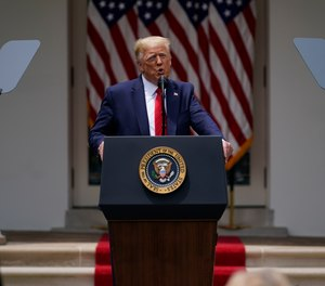 President Donald Trump speaks during an event on police reform, in the Rose Garden of the White House, Tuesday, June 16, 2020, in Washington.