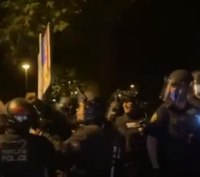 Portland rioters clash with police, officers arrest 24