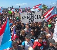 Violent confrontations rock Puerto Rico protests