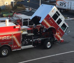 Fire Chief Keith Stark said the fire engine allows firefighters to pump upwards to 1,500 gallons of water per minute. (Photo/Weymouth Fire Dept.)