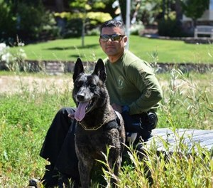 Officer Luis Galeana and K-9 Puskas have unwavering passion for the job. (Photo/Santa Ana PD)