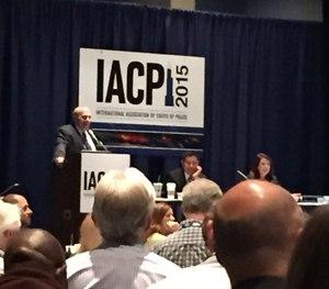 Denver (Colo.) Deputy Chief David Quinones, along with psychologists Sara Garrido and John Nicoletti, speak at IACP 2015.