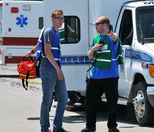 What off-the-wall things have you found yourself saying as an EMS provider? (Photo/Homeland Security and Emergency Services)