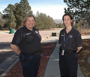 Christina Randall (left). (Photo/Andrea Chalfin/91.5 KRCC)