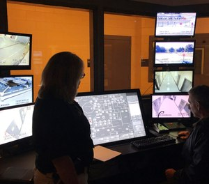 County Sheriff Janis Mangum stands in a control room at the county jail, in Jefferson, Ga.