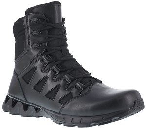 The boot features a midsole designed for flexibility.