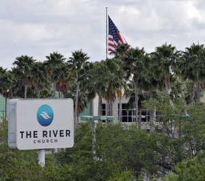 This Monday, March 30, 2020 file photo shows The River Church in Tampa, Fla. Pastor Rodney Howard-Browne was arrested Monday, March 30, 2020, for violating a county order by hosting a large number of congregants at the church. (Photo/AP)