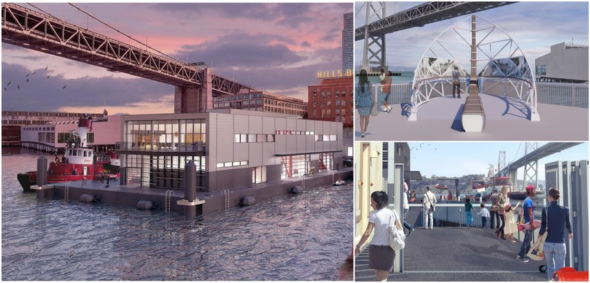 On the south side of Fireboat Station No. 35, a waterfront observation deck was included for San Franciscans and tourists to enjoy. A sculpture will also be located on the observation deck.