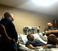 Video: Texas cops rescue officer from floodwaters